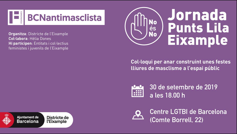 Jornada sobre #PuntsLila del Districte de l'Eixample - Barcelona