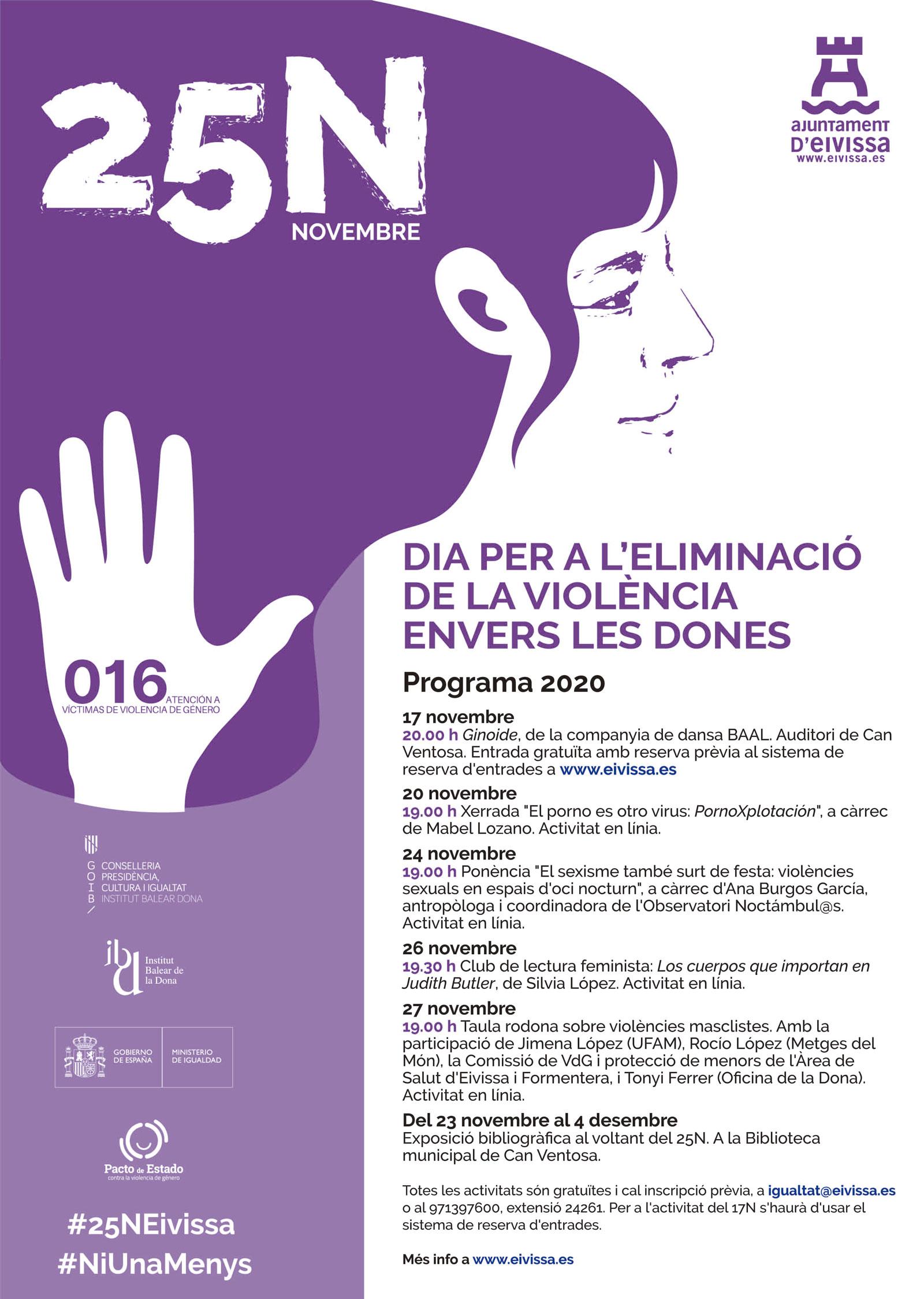 Participem en el cicle d'activitats de l'Ajuntament d'Eivissa amb motiu del 25N