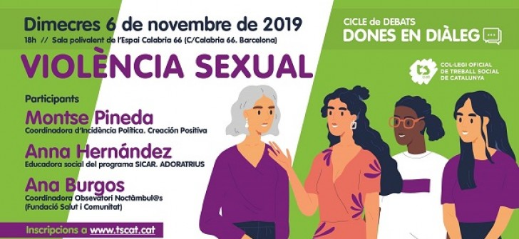 """Cicle """"Dones en diàleg"""": Violència Sexual - Barcelona"""