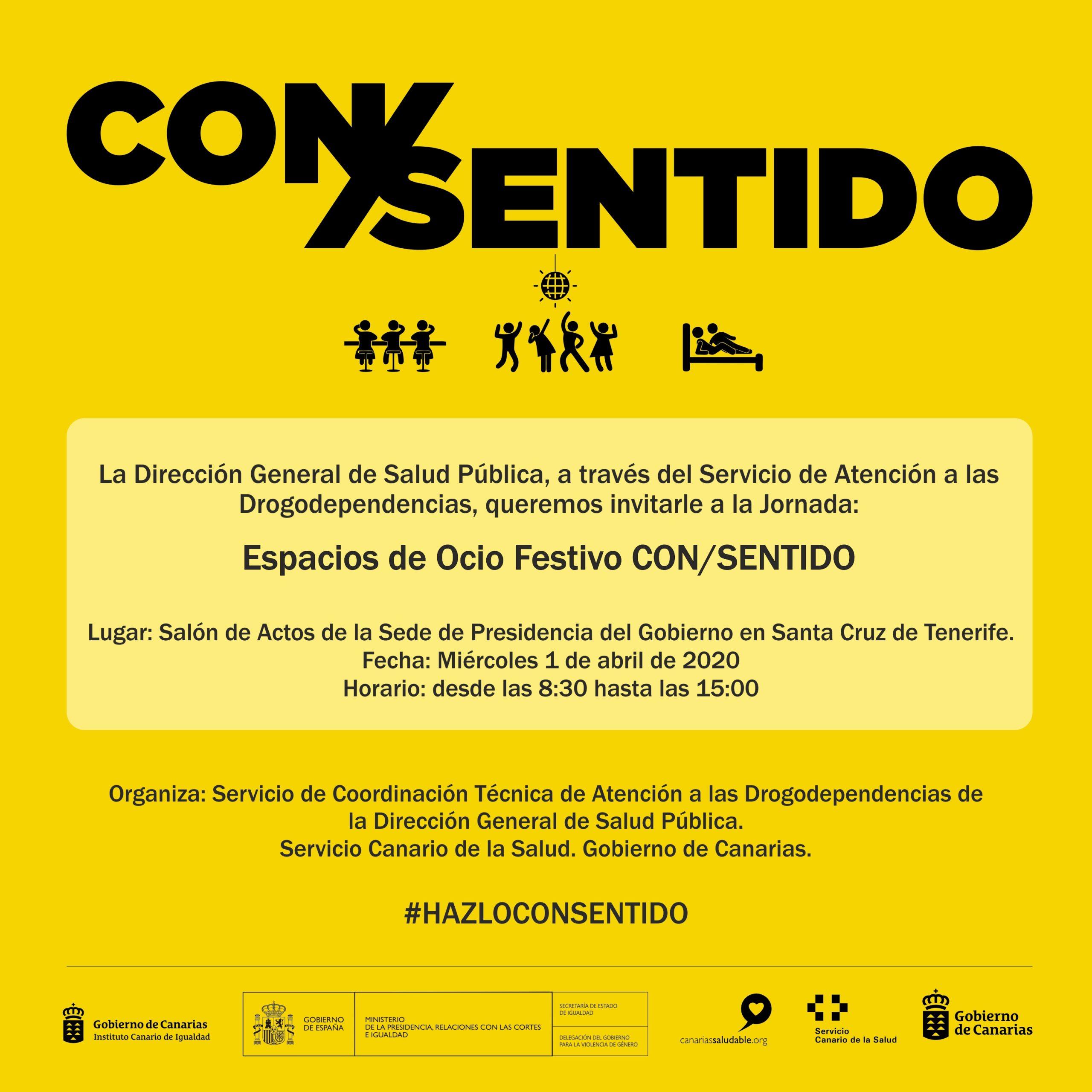 "Jornada ""Espacios de Ocio Festivo CON/SENTIDO"" - Tenerife"