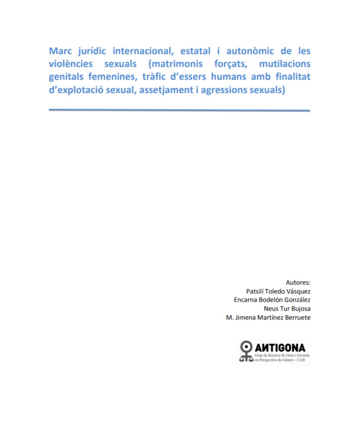 L'abordatge de les violències sexuals a Catalunya (Part 2. Marc jurídic)