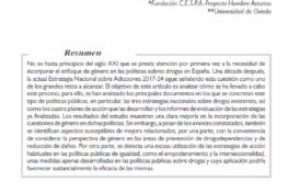 Fernández Rodríguez, M.A. et Al: Género y políticas sobre drogas en España: avances y limitaciones