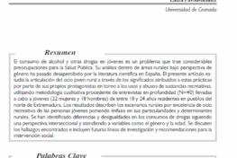 Pavón Benitez, Laura: Sobre prácticas de ocio juvenil y consumos de drogas en áreas rurales con perspectiva de género