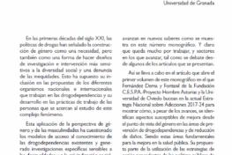 Romo, Nuria: Propuestas sobre género y masculinidades en el estudio de los usos y abusos de drogas