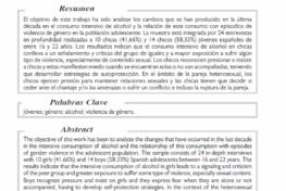 Ruiz Repullo, Carmen et Al: Violencia de género y abuso de alcohol en contextos recreativos