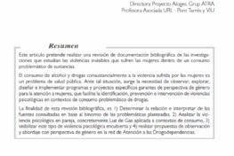 Salamanca Fernánez, Alicia: Gaslighting. Violencias psicológicas en parejas que usan o abusan de drogas