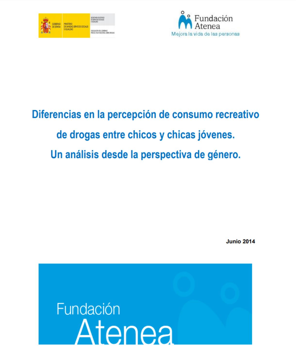 Diferencias en la percepción de consumo recreativo  de drogas entre chicos y chicas jóvenes.  Un análisis desde la perspectiva de género.