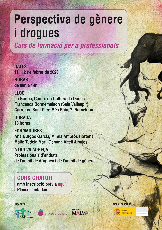 """Curs """"Perspectiva de gènere i drogues"""" - Barcelona"""