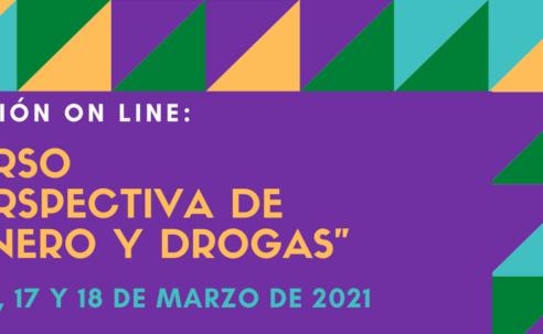"""Nueva edición del Curso """"Perspectiva de género y drogas"""" – on line"""