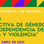 """Curso """"Perspectiva de género, abuso / dependencia de drogas y violencia"""" – Presencial en Madrid"""