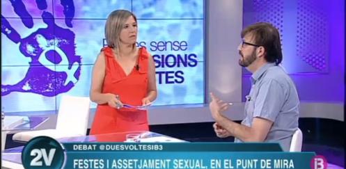 """Participamos en programa """"Dues voltes"""" de IB3: agresiones sexistas en fiestas"""