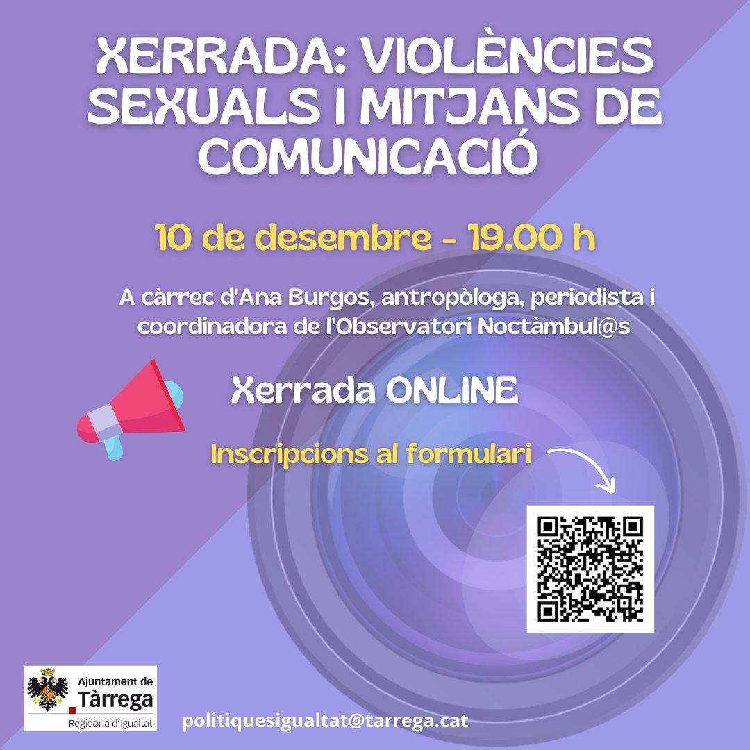 Participamos en actos #NovembreFeminista del Ayuntamiento de Tàrrega
