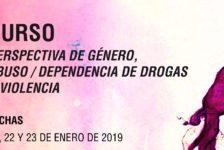 """Curso """"Perspectiva de género, abuso/dependencia de drogas y violencia"""" – Madrid, enero 2019"""