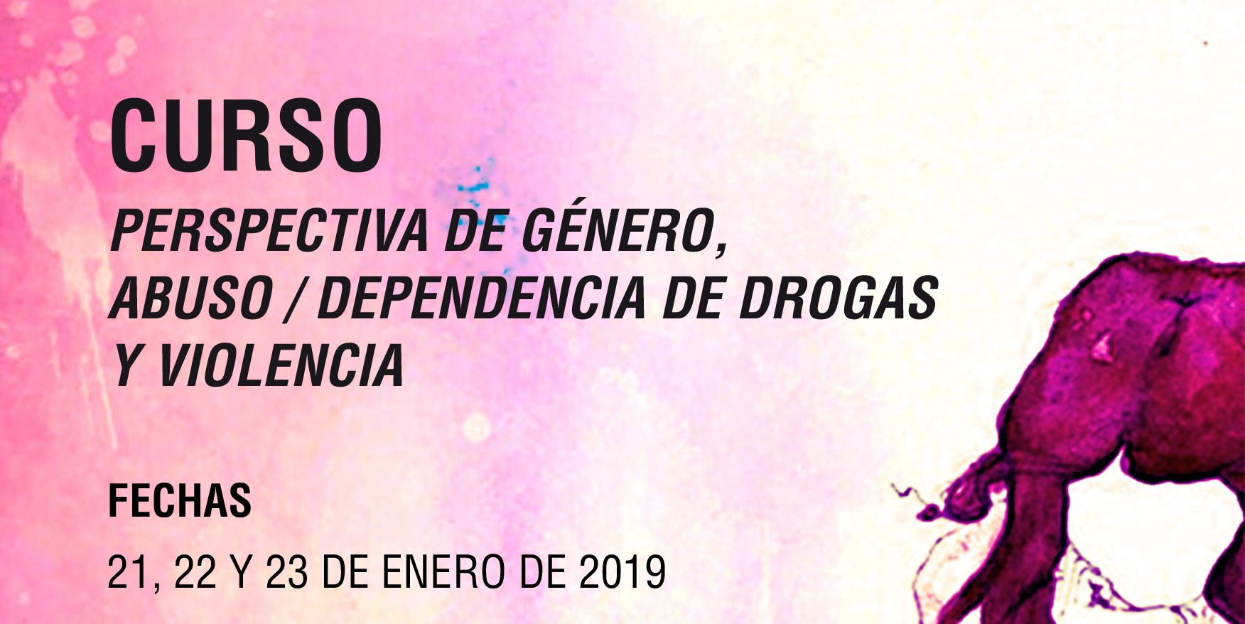 """Curso """"Perspectiva de género, abuso/dependencia de drogas y violencia"""""""