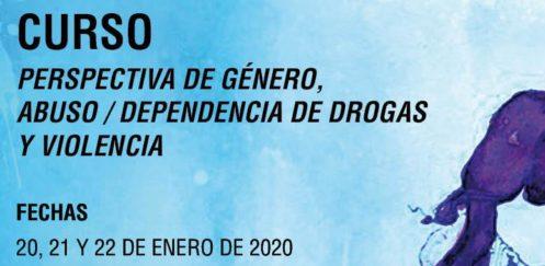 """Curso """"Perspectiva de género, abuso/dependencia de drogas y violencia"""" – Madrid, enero 2020"""
