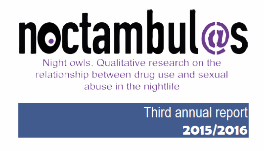 Third annual report: Night Owls. Qualitative research on the relationship between drug use and sexual abuse in the nightlife