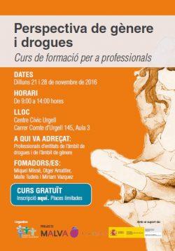 Nueva edición del curso Perspectiva de género y drogas- PLAZAS AGOTADAS