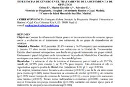 Ochoa Mangado, Enriqueta, et al.: Diferencias de género en el tratamiento de la dependencia de opiáceos