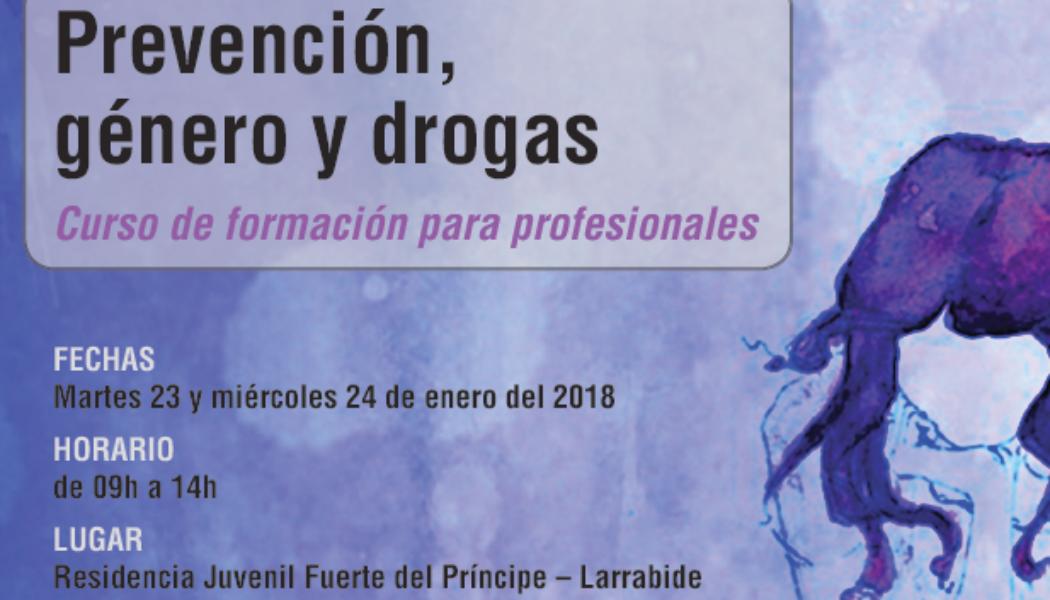 """Curso """"Prevención, género y drogas"""" – Pamplona / Iruña, 23-24 enero 2018"""
