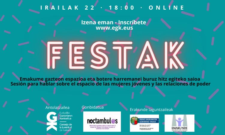 Estudio del modelo festivo con Noctámbul@s // Consejo de la Juventud de Euskadi // On line