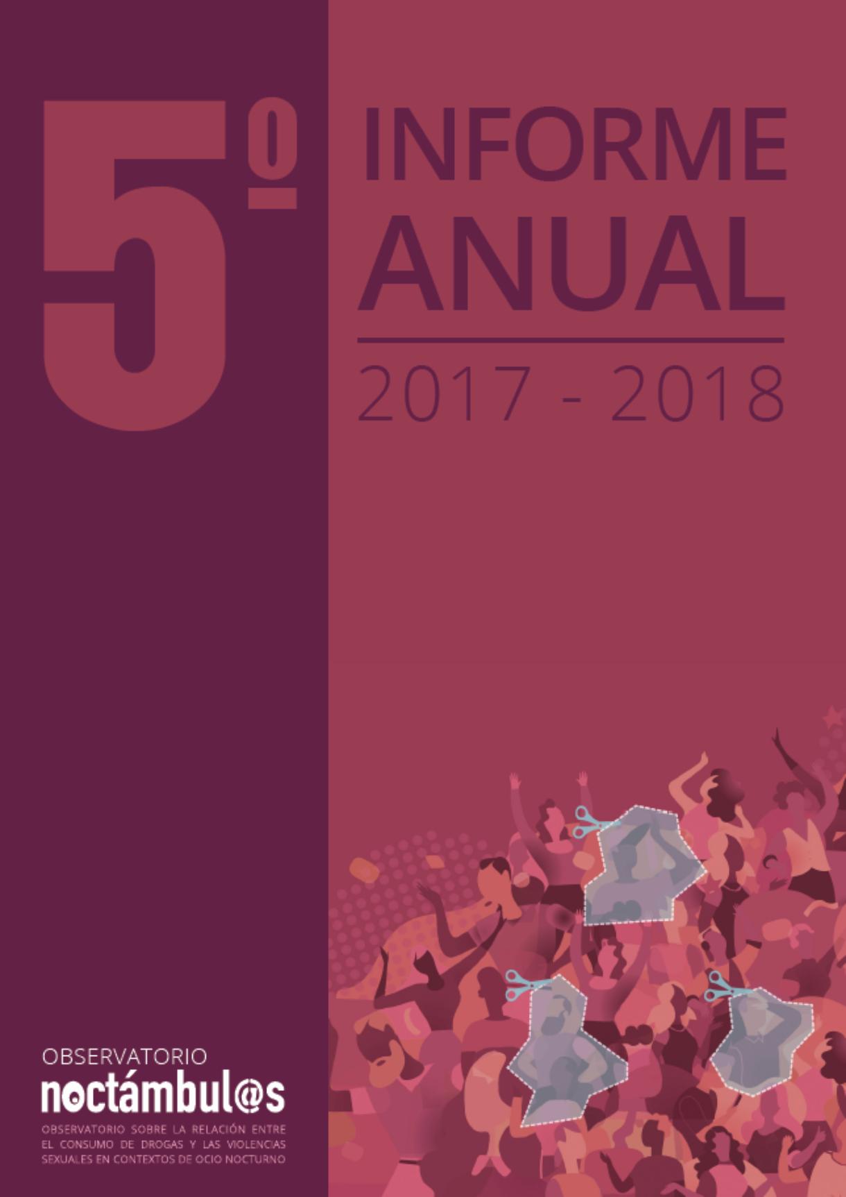 5º Informe Noctámbul@s sobre la relación entre el consumo de drogas y las violencias sexuales en espacios de ocio nocturno